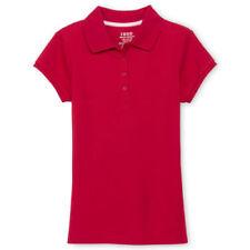 Izod Girls School Approved Short Sleeve Shirt  7/8 10/12 14/16  Red  Wht  or Blu