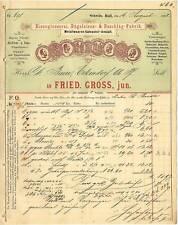 SCHWÄB. HALL Rechnung 1892, Eisengiesserei, Bügeleisen- & Beschläge-Fabrik Gross