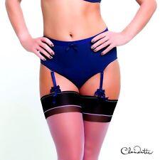 Claudette Sophia Retro Hi Cut Briefs Garter Panties Lingerie Pin Up Grape Color