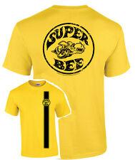 Yellow T-Shirt w/ Dodge Super Bee Logo / Emblem (Licensed)