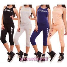 Tuta donna sport completo canotta e pantaloni capri dance fitness nuova CX-30