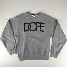 DOPE logo Crew Sweatshirt In Grey Sizes M, XL