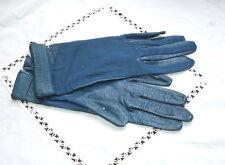 Ancienne paire de gants pour femme en cuir et voile 6 1/2, linge ancien