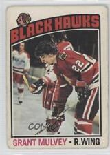 1976-77 O-Pee-Chee #167 Grant Mulvey Chicago Blackhawks Hockey Card