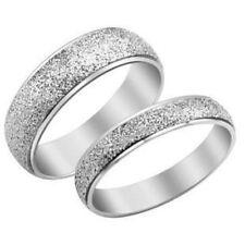 Color plata esmerilado acero inoxidable banda anillo varias opciones