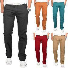 Homme Pantalon Chino Slim éTé Beige/Turquoise/Noir/Rouge/Kaki Jeans NEUF