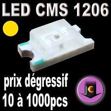 107# LED CMS 1206 jaune 160mcd de 10 à 1000pcs