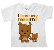"Camiseta para bebé ""I LOVE MY Mamá"" Osos De Peluche Amor Mamá Madre Día"