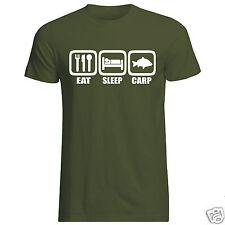 EAT Sleep Carp T-shirt (Pesca Marito Fidanzato Papà PESCA SPORTIVA denunciando)
