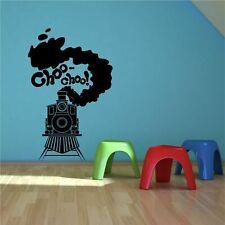 Steam Train Toy Track Boys Bedroom Wall Art Sticker Decal Transfer Stencil Mural