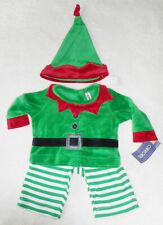 WEIHNACHTEN 🎅 Baby Jungen Anzug Set Samt 🎅 3tlg mit Mütze 🎅 WEIHNACHTSELF