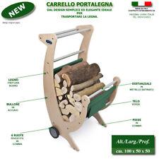 Carrello Portalegna in Legno camino caminetto stufa legna da ardere legnaia