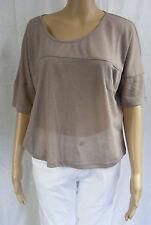 ★ VILA CLOTHES ★ Stylisches trendiges  T-Shirt Shirt ~ Ivy Top ~ braun ~ NEU