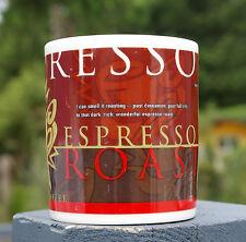 Starbucks Coffee Brewing Mug 1998 Dark Espresso Roast Cup Brown Red Cinnamon
