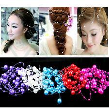 Filo perle perla acconciatura decorazione accessori capelli sposa matrimonio 5fd2c1e0558