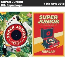 SUPER JUNIOR Replay 8th Album Repackage Album / Special Edition CD+Photobook+Etc