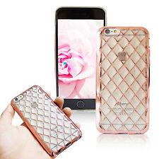 iPhone Handy Schutz Hülle Cover Silikon Case Glitzer Gold Diamant Bling