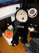 Starbucks Bearista Bear Halloween #22 Black Velvet tags