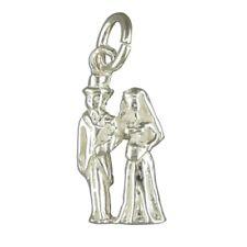 Silver Bride and Groom Necklace