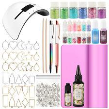 UV Resin Jewelry Making Supply 36W LED Lamp Glitter Pen Dye Open Bezel 158-kit