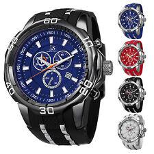 Men's Joshua & Sons JS50 Quartz Sporty Chronograph Date Silicone Strap Watch