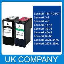 Ensemble Complet Cartouche d'encre pour Lexmark 3 & 2 32 & 33 43 & 44 4 & 5 14 & 15 23 & 24 28 & 29