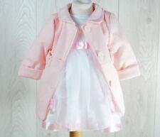 Baby Girls Coat Pink Christening Party Elegant Jacket  0 M -3 Years