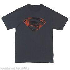 Superman Red & Black Glyph New Man Of Steel Movie 2013 T-Shirt Adult Shirt S-3XL