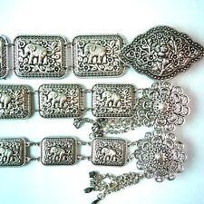 Silver plated belt elephant chain Thai tradition vintage dress women wedding new