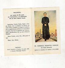 santino commemorativo frate federico righetto conchi dei padri somaschi - 1957