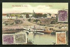 Sao Sebastiao do Cahy Cai Porto Harbour Brazil 4 stamps ca 1910