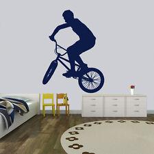 Rower BMX i jeździec BMX i rowerowych Naklejki ścienne Sports Gym Decor Art