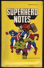 CAPTAIN AMERICA & HULK SUPERHERO NOTES STATIONERY SET 1978 RARE Marvelmania