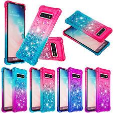 Glitzer Glitter Liquid Schutz Handy Hülle Cover Case Silikon Flüssig Tasche YB