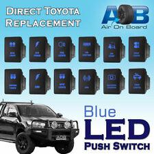 12V Blue LED Fog Light Bar Push Switch For Toyota 2015 Hilux Prado 150 200 rav4