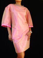 Class ROBERTO CAVALLI Pearl Pink 100% Silk 3/4 Sleeve Formal Dress Italy 48 US14
