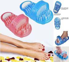 Shower Foot Scrubber Feet Brush Massager Clean Bathroom Health Shower Blue Pink