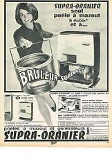 PUBLICITE  1967    SUPRA-ORANIER   poeles à mazout