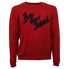 C6524 maglione uomo SUN 68 rosso cotone/lana sweater men