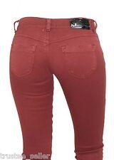 Women DIESEL Brand Slim Stretch Skinny Jegging Livier 661V Burgundy Red Jeans