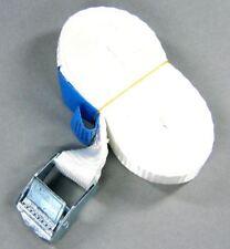 Spanngurt Befestigungsriemen Gurt Zurrgurt 4,5 Meter weiß 1-100 Stück (935066)