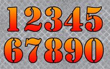 NUMERO COURSE POLY CARENAGE MOTO QUAD SCOOTER AUTOCOLLANT STICKER NU012