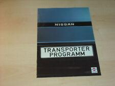 17442) Nissan Vanette Urvan Pickup Prospekt 1984