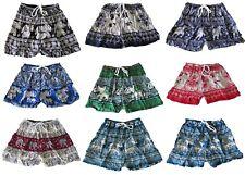 Festival Colourful Hippy Elephant Shorts One Size Cotton Bright Summer Holiday