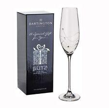 Personalised Dartington Glitz Pair of Champagne Flutes Glasses