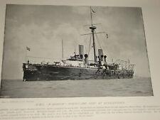 1896  HMS WARSPITE PORTGUARD SHIP AT QUEENSTOWN