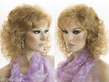 Premium Quality Natural Looking Medium Length Layered Wavy Curly Wig Kanekalon