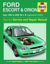 Haynes Workshop Repair Manual Ford Escort Orion 90 - 00