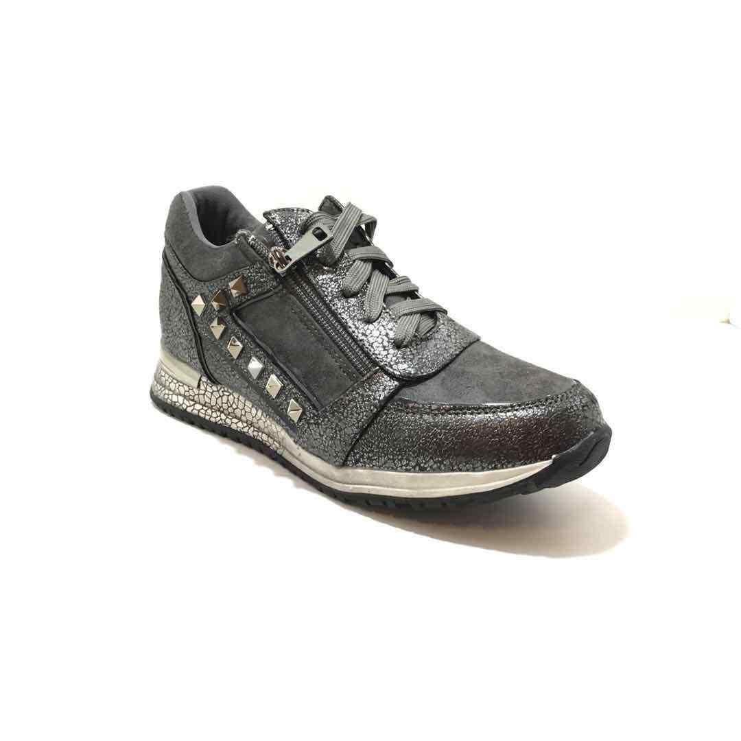 Sneaker Turn Zapatos  sportliche  Zapatos  Halb Zapatos 36-40  silbergrau/taupe Gr. 36-40 Zapatos 58011d