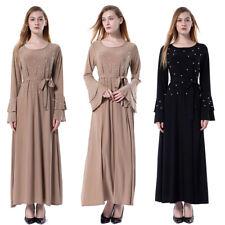 Islamic Women's Jilbab Abaya Long Sleeve Maxi Dress Cocktail Kaftan Dubai Dress